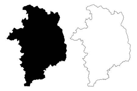 Cher Department (France, French Republic, Centre-Val de Loire region) map vector illustration, scribble sketch Cher map Illustration