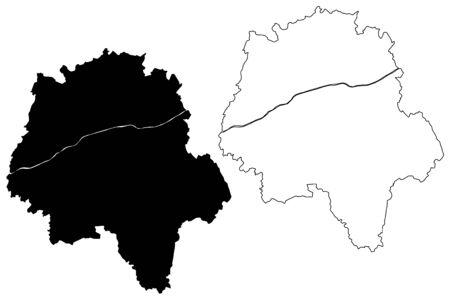 Indre-et-Loire Department (France, French Republic, Centre-Val de Loire region) map vector illustration, scribble sketch Indre et Loire map