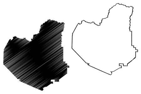 Lumpkin County, Georgia (U.S. county, United States of America,USA, U.S., US) map vector illustration, scribble sketch Lumpkin map Illustration