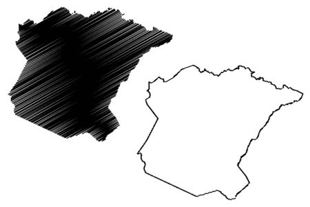 Oglethorpe County, Georgia (U.S. county, United States of America,USA, U.S., US) map vector illustration, scribble sketch Oglethorpe map
