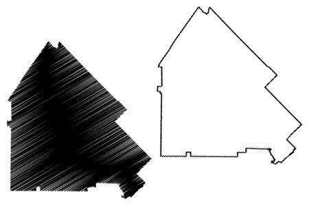 Pulaski County, Georgia (U.S. county, United States of America,USA, U.S., US) map vector illustration, scribble sketch Pulaski map