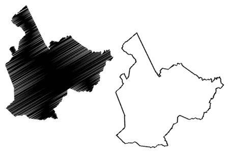 Taliaferro County, Georgia (U.S. county, United States of America, USA, U.S., US) map vector illustration, scribble sketch Taliaferro map