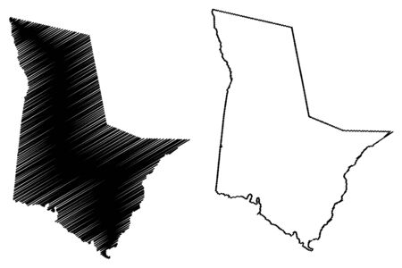 Tattnall County, Georgia (U.S. county, United States of America, USA, U.S., US) map vector illustration, scribble sketch Tattnall map Illustration