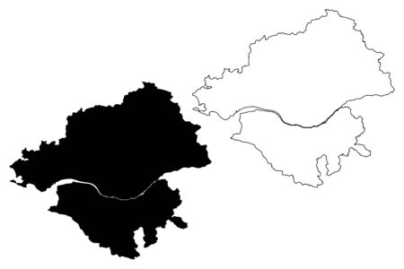 Loire-Atlantique Department (France, French Republic, Pays de la Loire region) map vector illustration, scribble sketch Loire Atlantique map