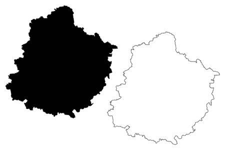 Sarthe Department (France, French Republic, Pays de la Loire region) map vector illustration, scribble sketch Sarthe map