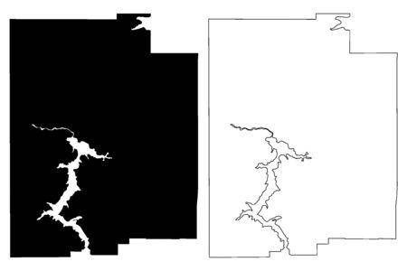 Kootenai County, Idaho (U.S. county, United States of America, USA, U.S., US) map vector illustration, scribble sketch Kootenai map