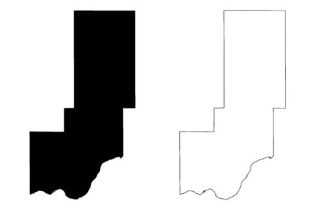 Minidoka County, Idaho (U.S. county, United States of America, USA, U.S., US) map vector illustration, scribble sketch Minidoka map