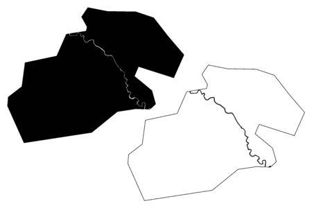 Kermanshah City (Islamic Republic of Iran, Persia, Kermanshah Province) map vector illustration, scribble sketch City of Kermanshahan map