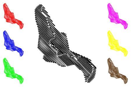 Zenica City (Bosnia and Herzegovina, Bosnia–Herzegovina) map vector illustration, scribble sketch City of Zenica map