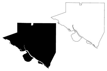 Randolph County, Illinois (U.S. county, United States of America, USA, U.S., US) map vector illustration, scribble sketch Randolph map Vector Illustration