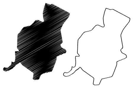 Hamadan City (Islamic Republic of Iran, Persia, Hamadan Province) map vector illustration, scribble sketch City of Hamedan map 矢量图像