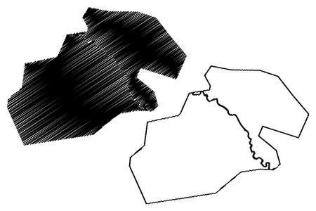 Kermanshah City (Islamic Republic of Iran, Persia, Kermanshah Province) map vector illustration, scribble sketch City of Kermanshahan map 矢量图像