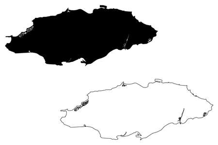 Nassau City (Commonwealth of The Bahamas, New Providence island) map vector illustration, scribble sketch City of Nassau map
