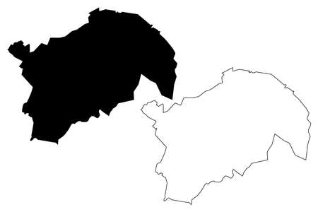 Guatemala City (Republic of Guatemala) map vector illustration, scribble sketch City of New Guatemala of the Assumption or Guate map Illustration