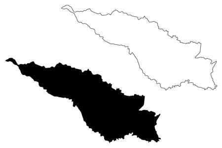 San Jose City (Republic of Costa Rica) map vector illustration, scribble sketch City of San Jose map Çizim