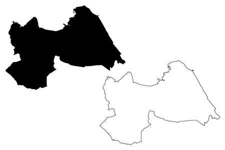 Tuxtla Gutierrez City (United Mexican States, Mexico, Free and Sovereign State of Chiapas) map vector illustration, scribble sketch City of Tuxtla Gutierrez map Vectores