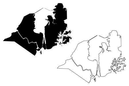 Colon City (Republic of Panama) map vector illustration, scribble sketch City of Colon map