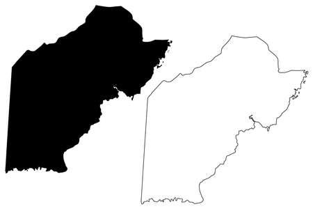 Toledo District (Belize, Districts of Belize) map vector illustration, scribble sketch Toledo map