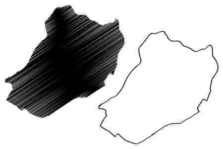 Faisalabad City (Islamic Republic of Pakistan, Punjab Province) map vector illustration, scribble sketch City of Lyallpur map