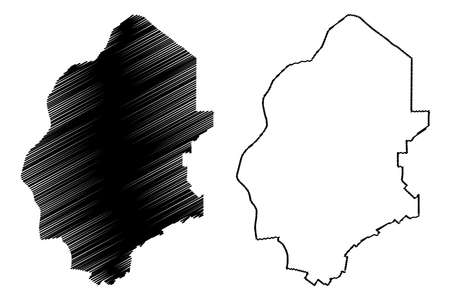 Jhang City (Islamic Republic of Pakistan, Punjab Province) map vector illustration, scribble sketch City of Jhang map Ilustração