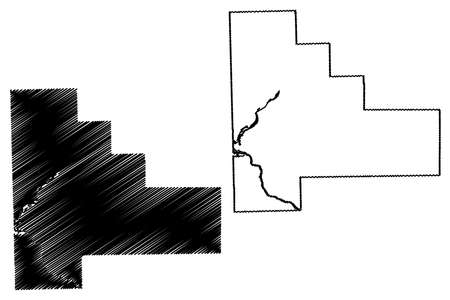 Will County, Illinois (US county, United States of America, USA, US, US) map vector illustration, scribble sketch Will map