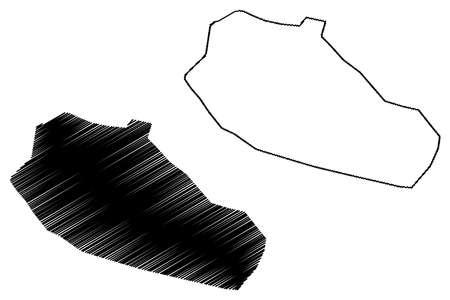 Sheikhupura City (Islamic Republic of Pakistan, Punjab Province) map vector illustration, scribble sketch City of Qila Sheikhupura map Ilustração