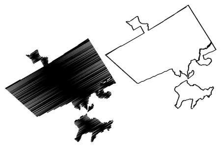 Rawalpindi City (Islamic Republic of Pakistan, Punjab Province) map vector illustration, scribble sketch City of Pindi map