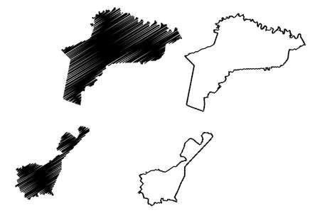 Caloocan City (Republic of the Philippines, Metro Manila, National Capital Region) map vector illustration, scribble sketch City of Caloocan map Ilustração