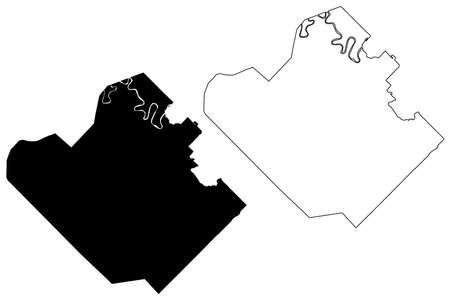 Resistencia City (Argentine Republic, Chaco Province) map vector illustration, scribble sketch City of Resistencia map