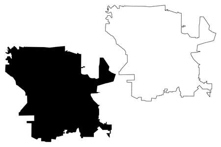Cordoba City (Argentine Republic, Cordoba Province) map vector illustration, scribble sketch map