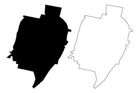 Tucuman City (Argentine Republic, Tucuman Province) map vector illustration, scribble sketch City of San Miguel de Tucuman map