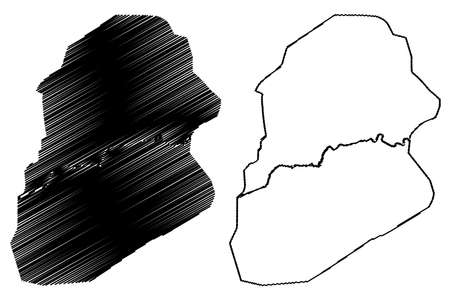 Sialkot City (Islamic Republic of Pakistan, Punjab Province) map vector illustration, scribble sketch City of Sialkot map Ilustração