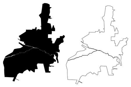 Salta City (Argentine Republic, Salta Province) map vector illustration, scribble sketch map