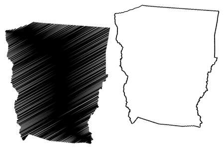 Dasmarinas City (Republic of the Philippines, Calabarzon Region) map vector illustration, scribble sketch City of Dasmarinas map