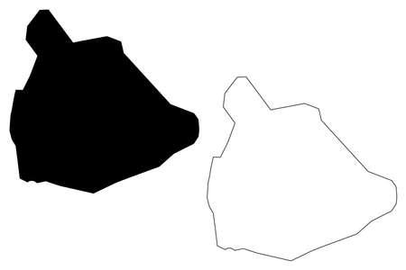 Oruro City (Plurinational State of Bolivia, Cercado Province) map vector illustration, scribble sketch City of Uru Uru map