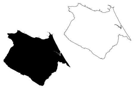 Fortaleza City (Federative Republic of Brazil, Ceara State) map vector illustration, scribble sketch City of Fortaleza map