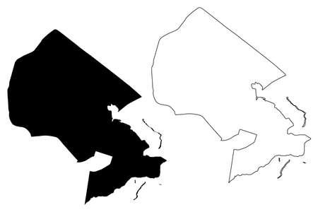 Brasilia City (Federative Republic of Brazil, Federal District) map vector illustration, scribble sketch City of Brasilia map
