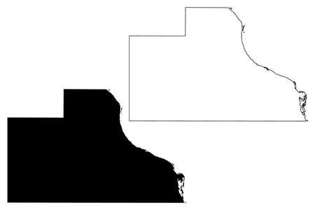 Jackson County, Iowa (US county, United States of America, USA, US, US) map vector illustration, scribble sketch Jackson map Ilustração
