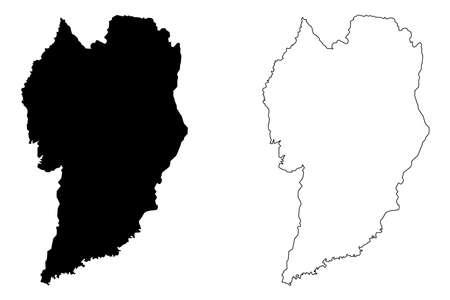 Curitiba City (Federative Republic of Brazil, Parana State) map vector illustration, scribble sketch City of Curitiba map Ilustração