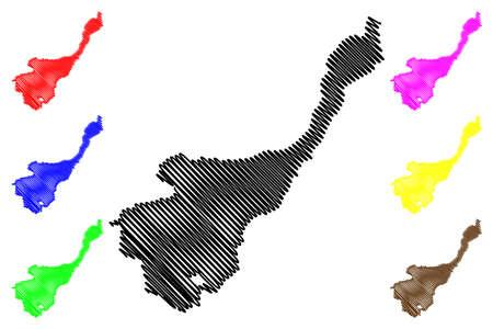 Tuzi Municipality (Montenegro, Municipalities of Montenegro) map vector illustration, scribble sketch Tuzi map