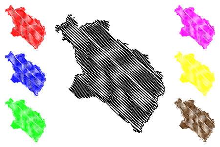 Pljevlja Municipality (Montenegro, Municipalities of Montenegro) map vector illustration, scribble sketch Pljevlja map