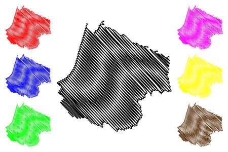 Rozaje Municipality (Montenegro, Municipalities of Montenegro) map vector illustration, scribble sketch Rozaje map