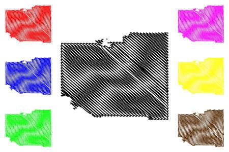 Benewah County, Idaho (US county, United States of America, USA, US, US) map vector illustration, scribble sketch Benewah map