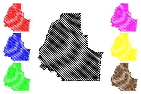 Washington County, Idaho (US county, United States of America, USA, US, US) map vector illustration, scribble sketch Washington map