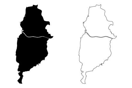 Osasco City (Federative Republic of Brazil, Sao Paulo State) map vector illustration, scribble sketch City of Osasco map