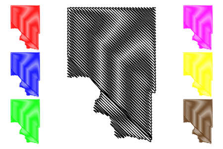 Gooding County, Idaho (US county, United States of America, USA, US, US) map vector illustration, scribble sketch Gooding map Illustration