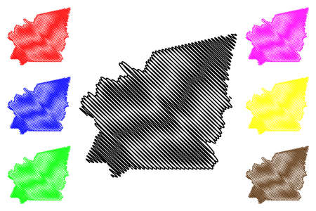 Idaho County, Idaho (US county, United States of America, USA, US, US) map vector illustration, scribble sketch Idaho map Illustration