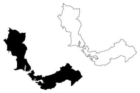 Santo Andre City (Federative Republic of Brazil, Sao Paulo State) map vector illustration, scribble sketch City of Santo Andre map Illustration