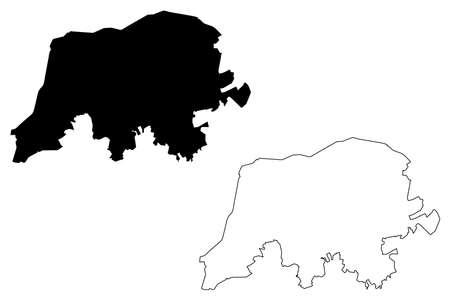 Aparecida de Goiania City and Municipality (Federative Republic of Brazil, Goias State) map vector illustration, scribble sketch City of Aparecida de Goiania map Illustration