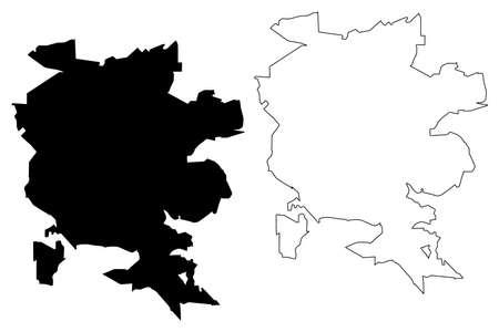 Londrina City (Federative Republic of Brazil, Parana State) map vector illustration, scribble sketch City of Londrina map Illustration